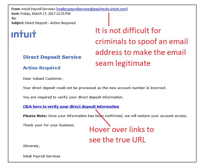 FBI Alert: Direct Deposit Scam Is On