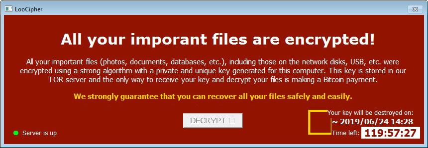 Free Decryptor Restores Ransomed LooCipher Files