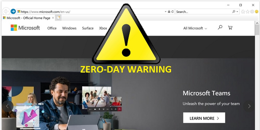 Microsoft Warns Of Zero Day Vulnerability Actively Being Exploited On IE